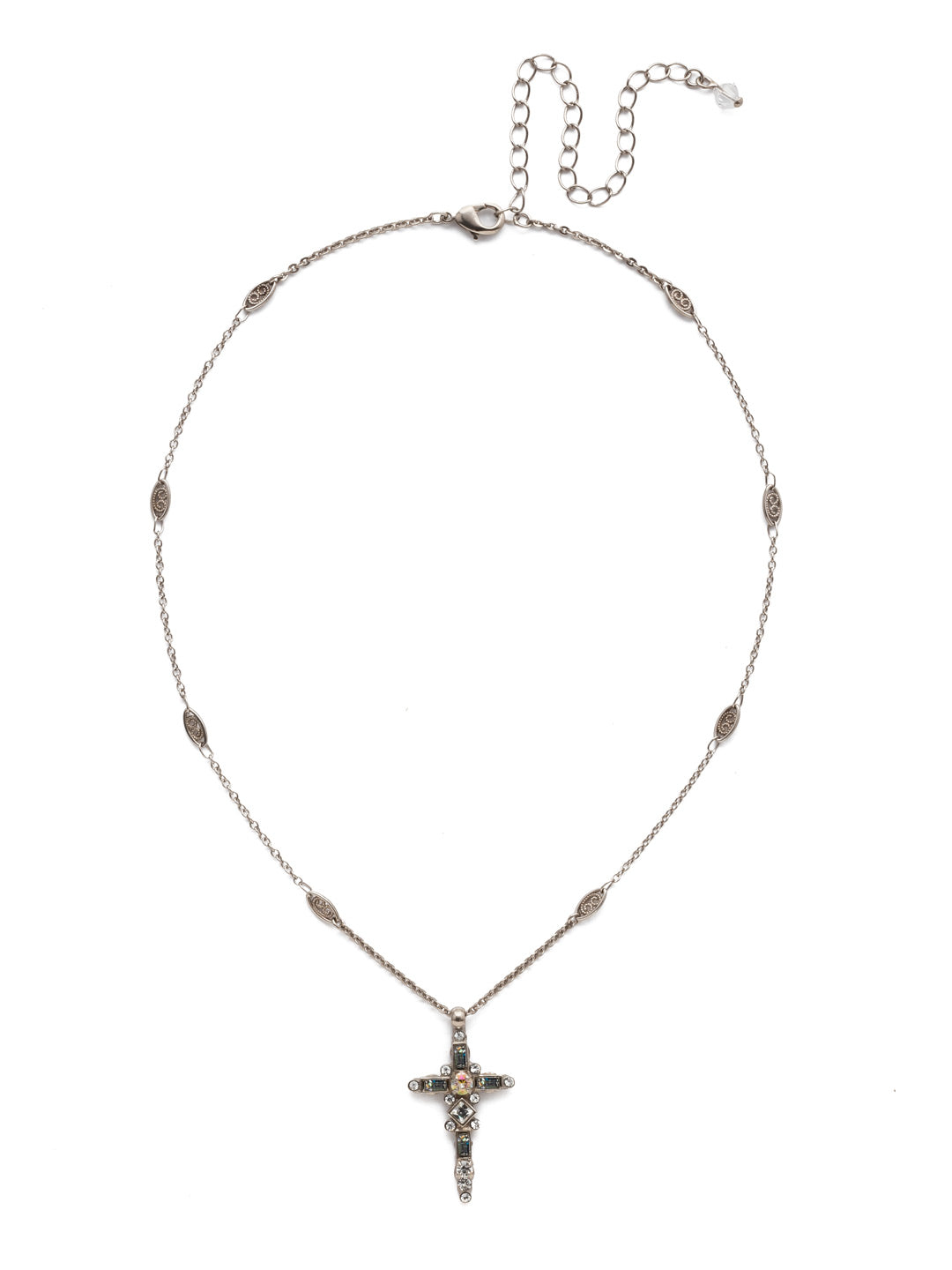 Delicate Sliding Cross Pendant Necklace - NDQ54ASCRE