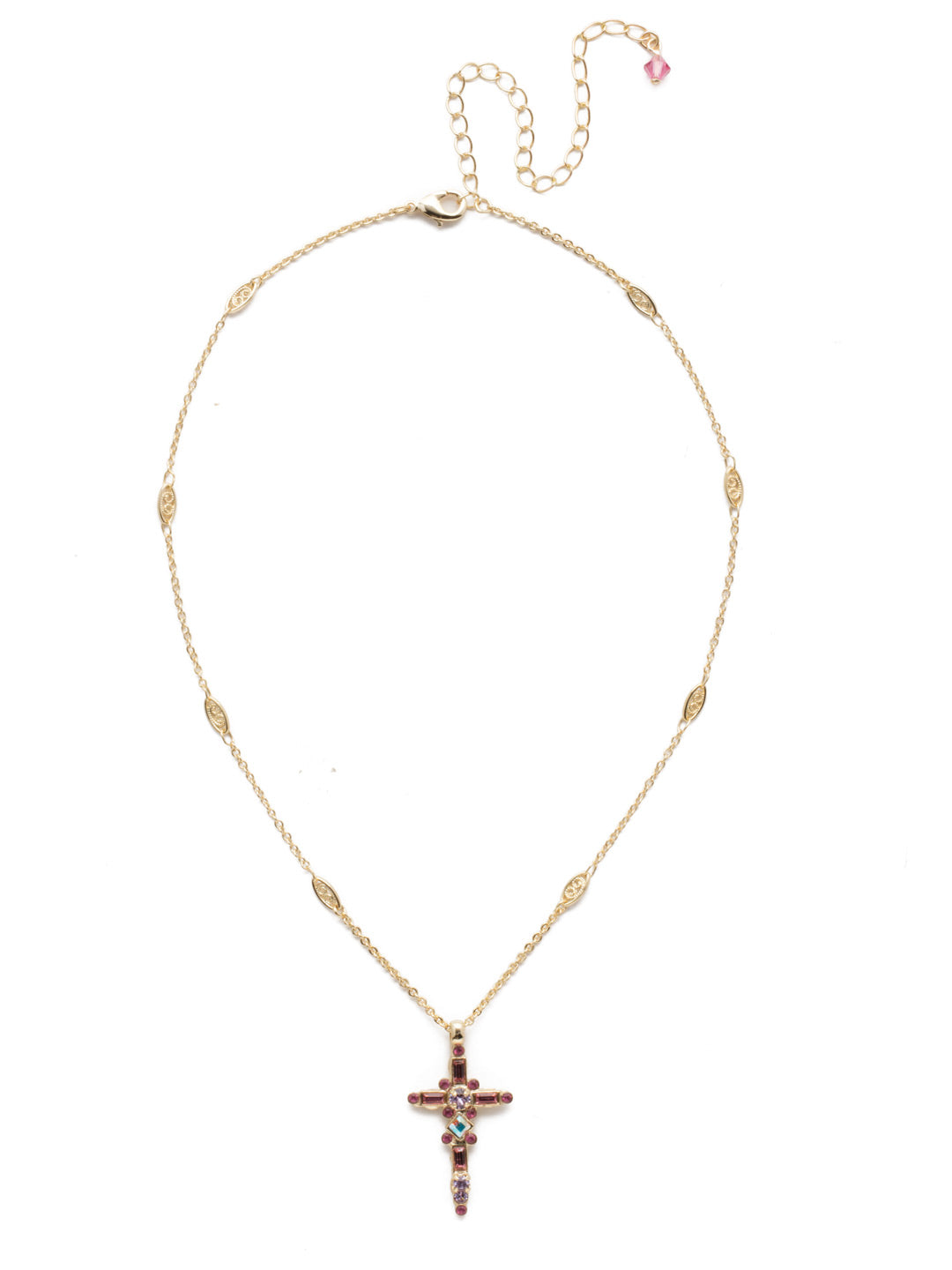 Delicate Sliding Cross Pendant Necklace - NDQ54BGISS