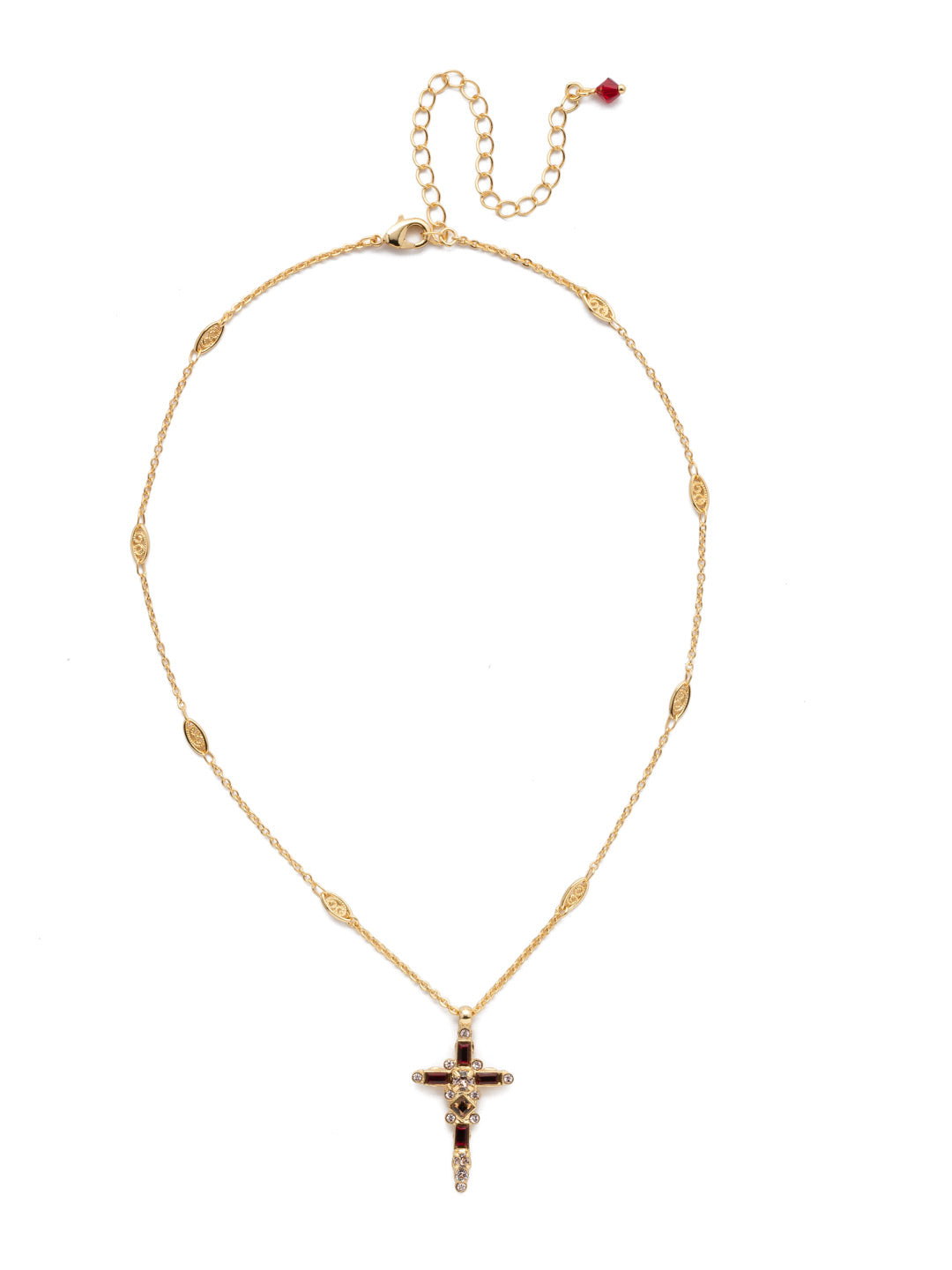 Delicate Sliding Cross Pendant Necklace - NDQ54BGSRC