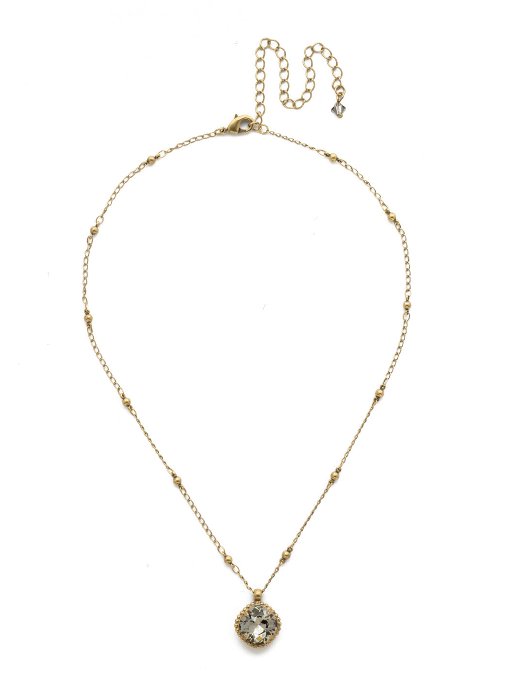 Cushion-Cut Solitaire Necklace - Sorrelli Essentials - NDS50AGBD