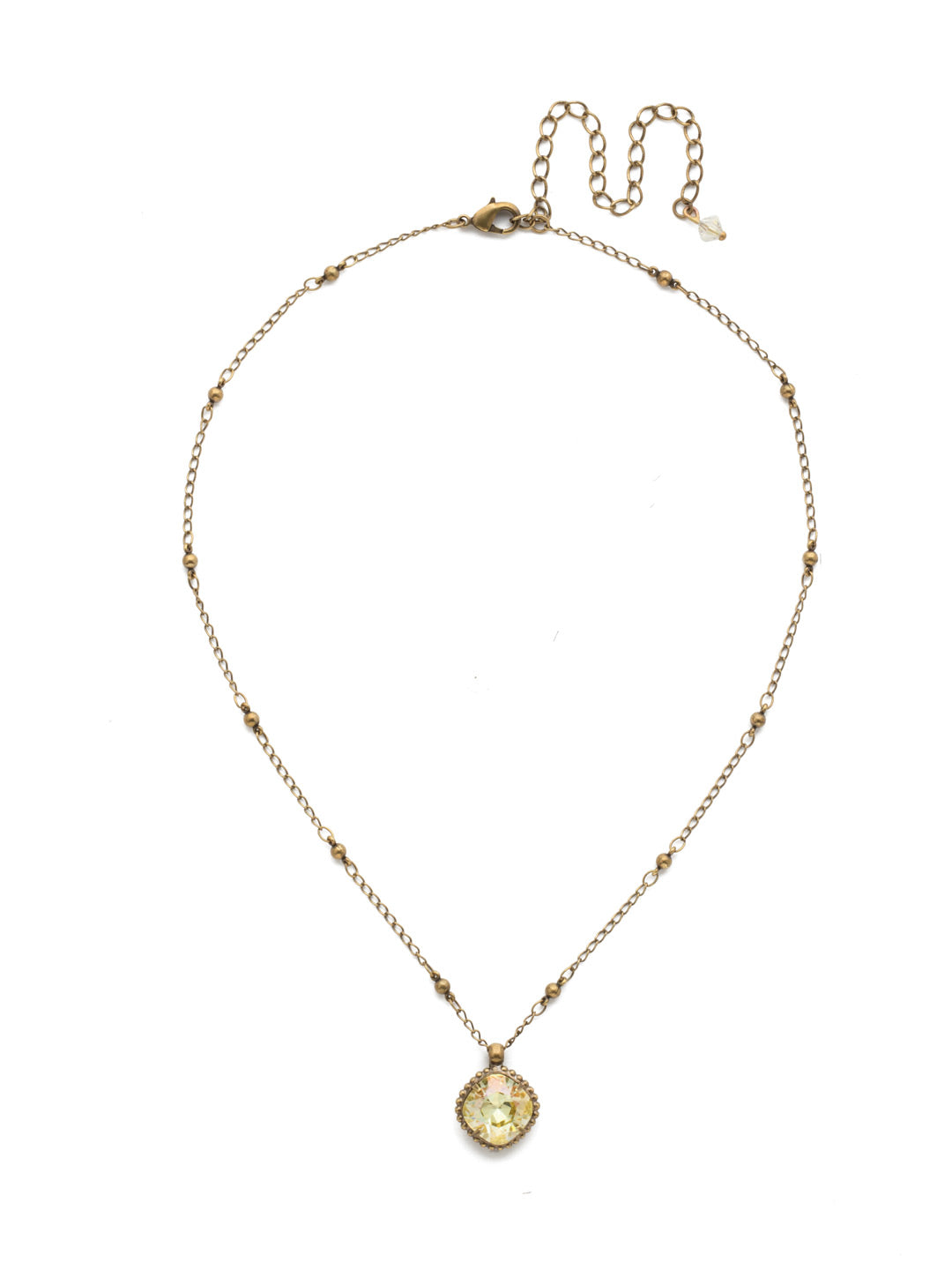 Cushion-Cut Solitaire Necklace - Sorrelli Essentials - NDS50AGCCH