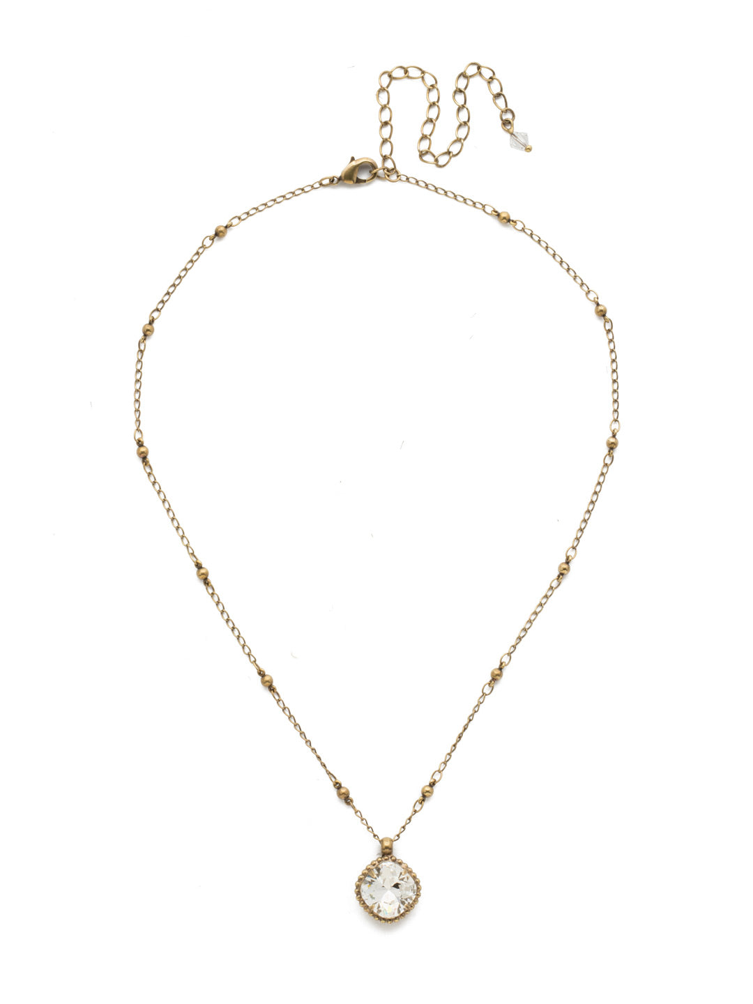Cushion-Cut Pendant Necklace - NDS50AGCRY