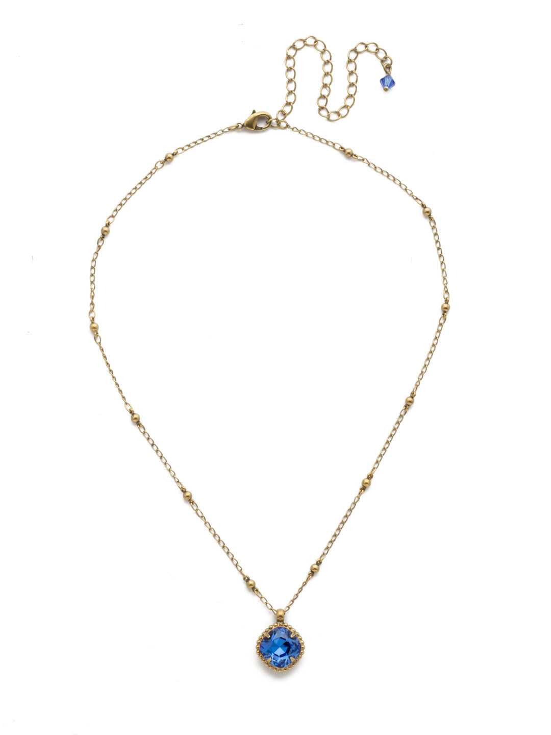 Cushion-Cut Solitaire Necklace - Sorrelli Essentials - NDS50AGSAP