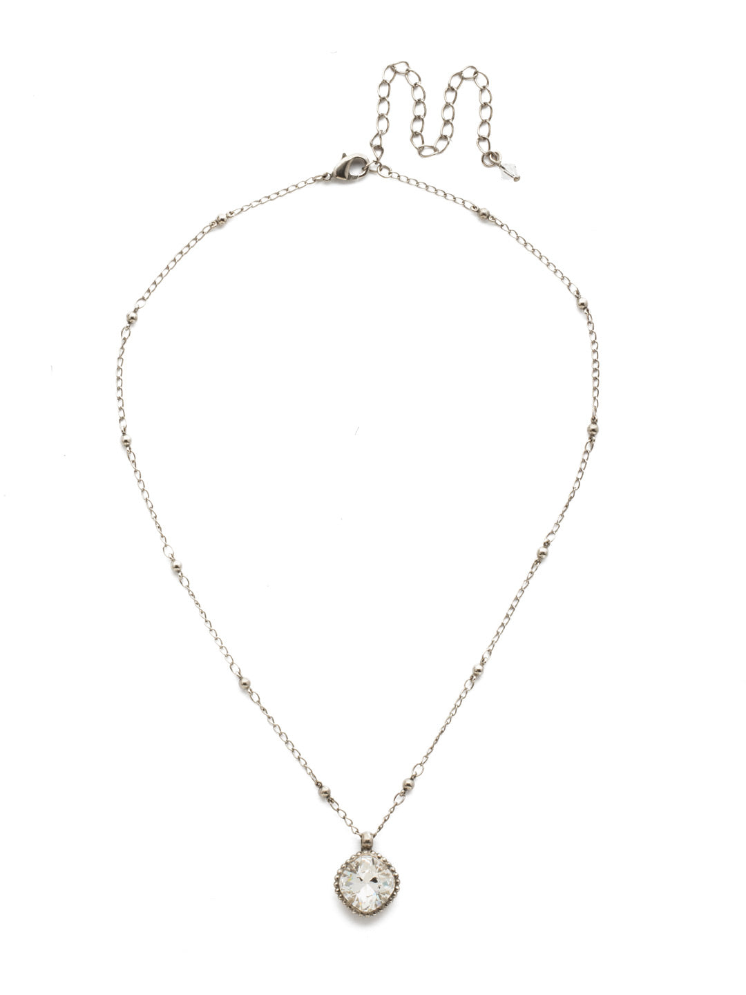 Cushion-Cut Solitaire Necklace - Sorrelli Essentials - NDS50ASCRY