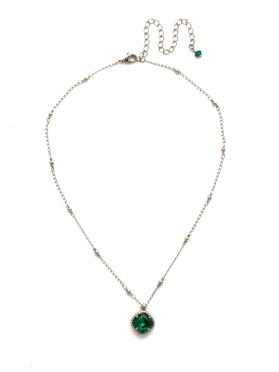 Cushion-Cut Solitaire Necklace - Sorrelli Essentials - NDS50ASEME