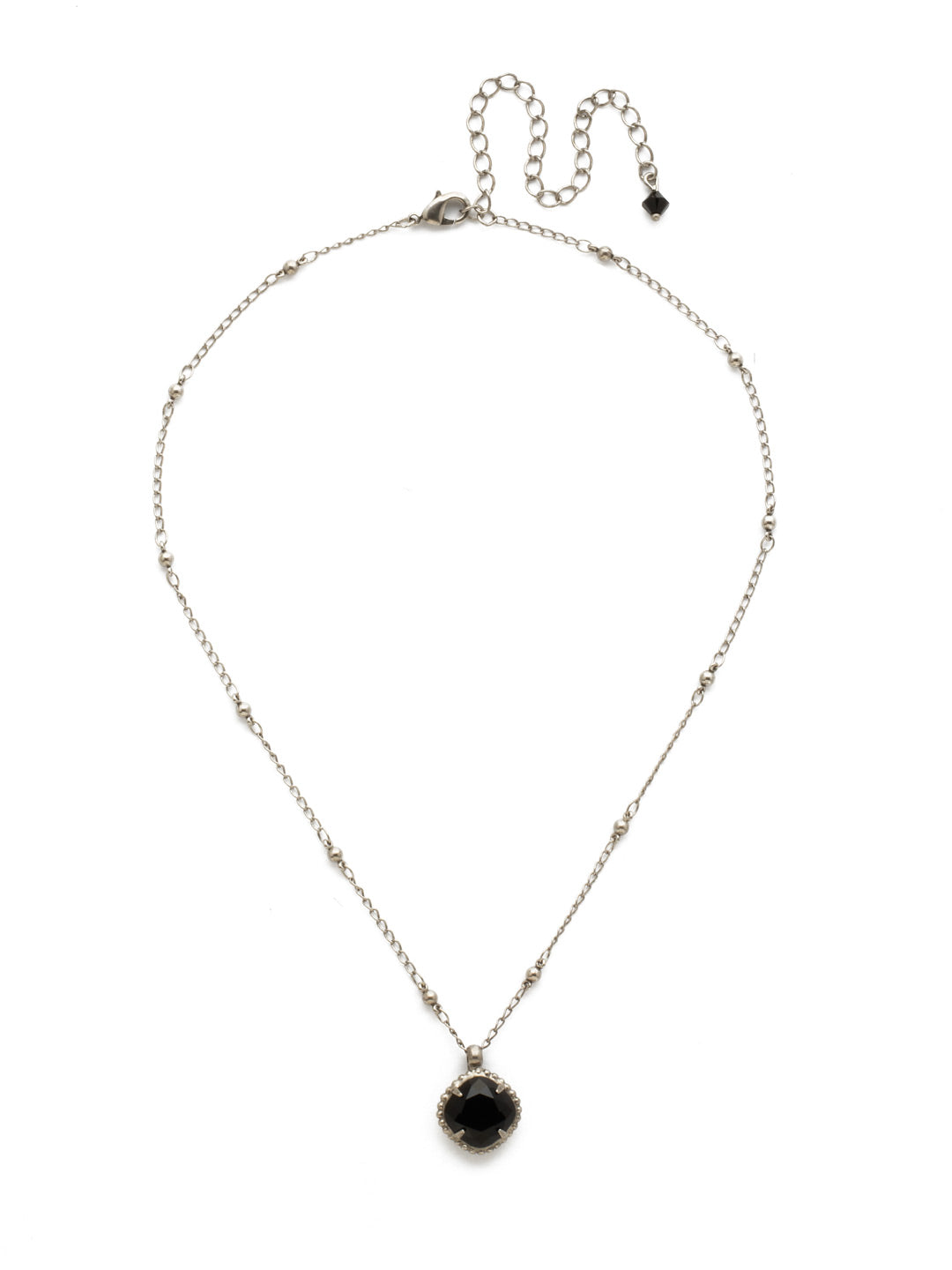 Cushion-Cut Pendant Necklace - NDS50ASJET