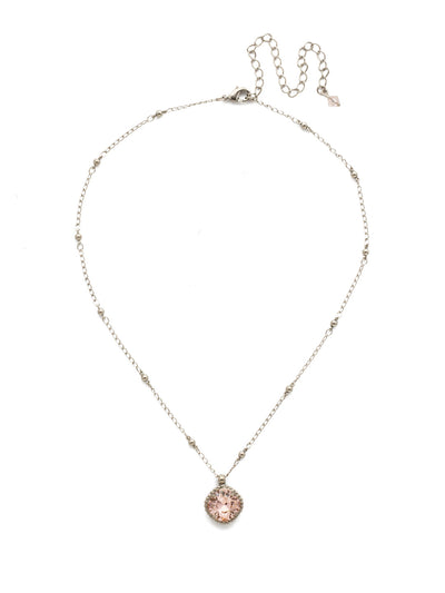 Cushion-Cut Solitaire Necklace - Sorrelli Essentials - NDS50ASVIN