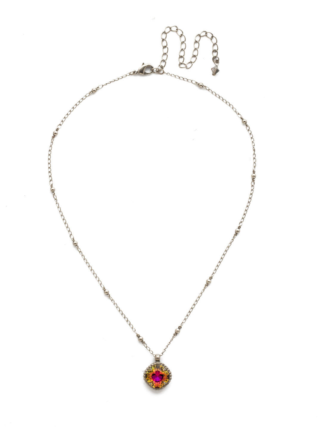 Cushion-Cut Solitaire Necklace - Sorrelli Essentials - NDS50ASVO