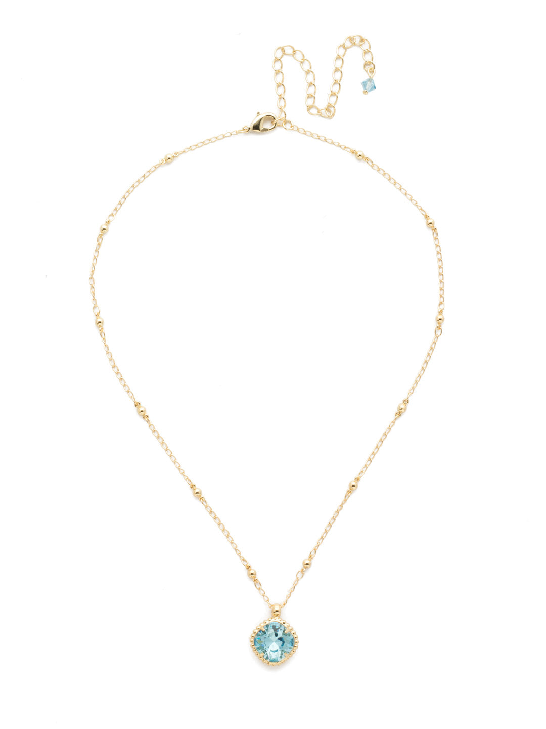 Cushion-Cut Solitaire Necklace - Sorrelli Essentials - NDS50BGAQU