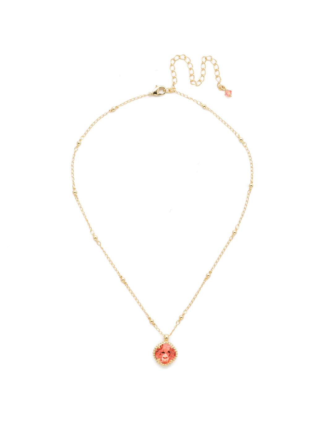 Cushion-Cut Pendant Necklace - NDS50BGCRL