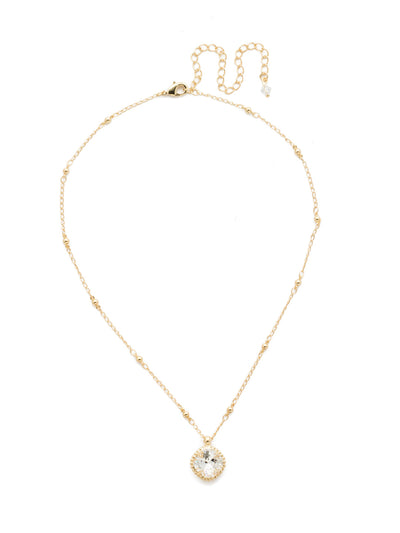 Cushion-Cut Pendant Necklace - NDS50BGCRY