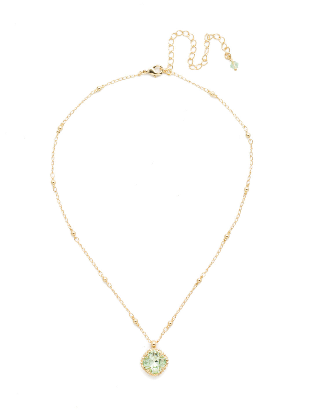 Cushion-Cut Solitaire Necklace - Sorrelli Essentials - NDS50BGMIN
