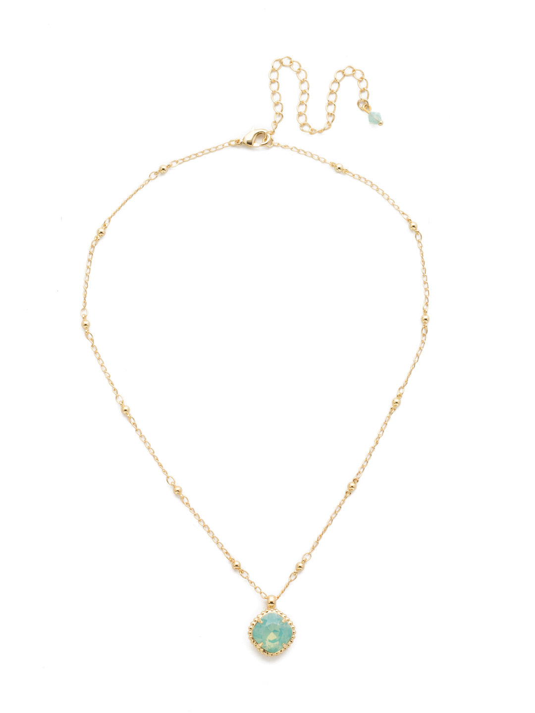 Cushion-Cut Solitaire Necklace - Sorrelli Essentials - NDS50BGPAC