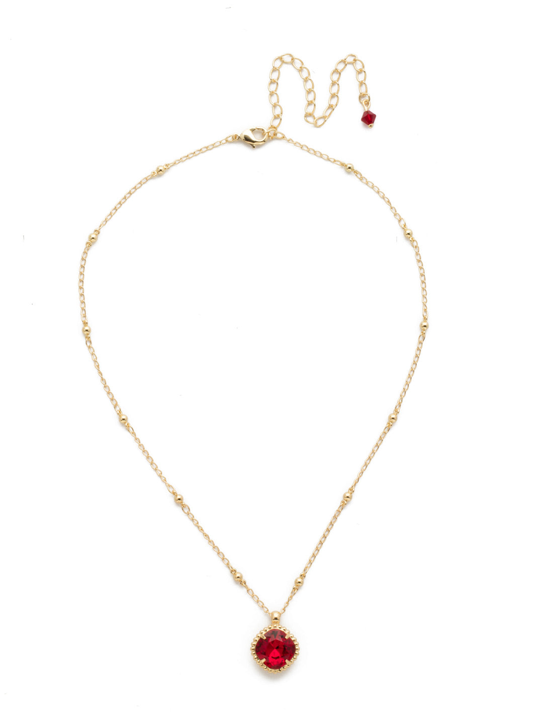 Cushion-Cut Solitaire Necklace - Sorrelli Essentials - NDS50BGSI