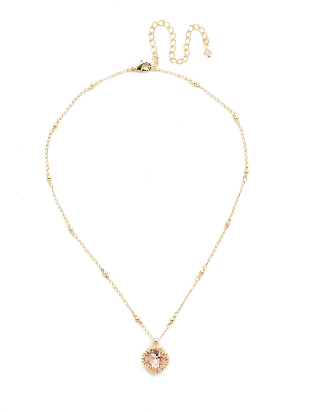 Cushion-Cut Solitaire Necklace - Sorrelli Essentials - NDS50BGVIN