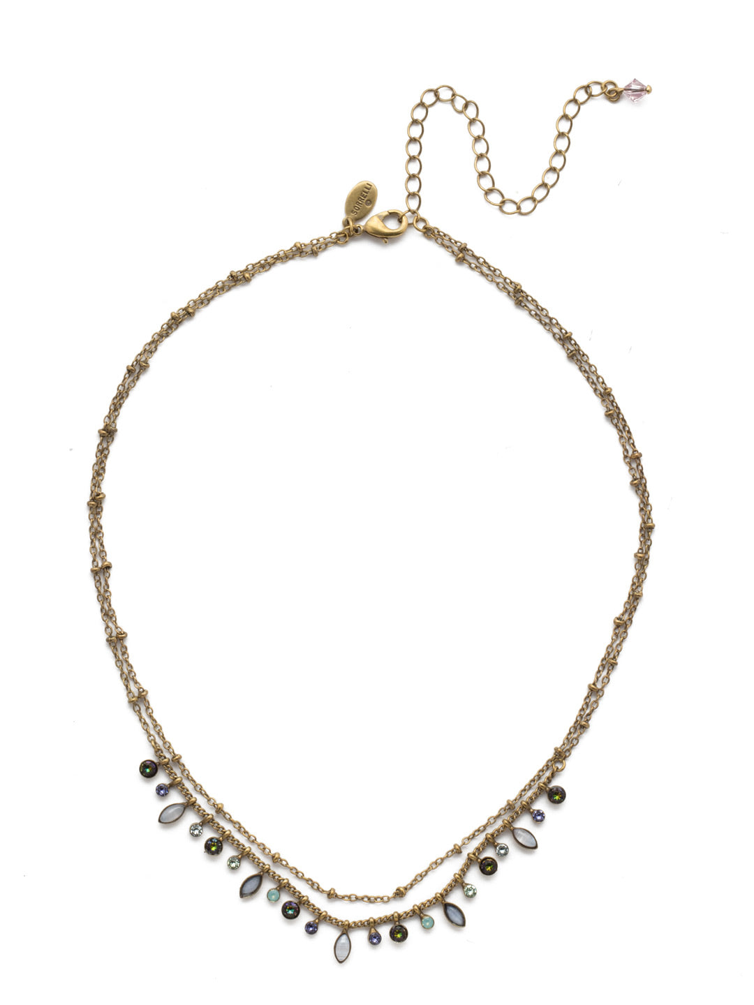 Rina Delicate Layered Necklace - NDY10AGIRB