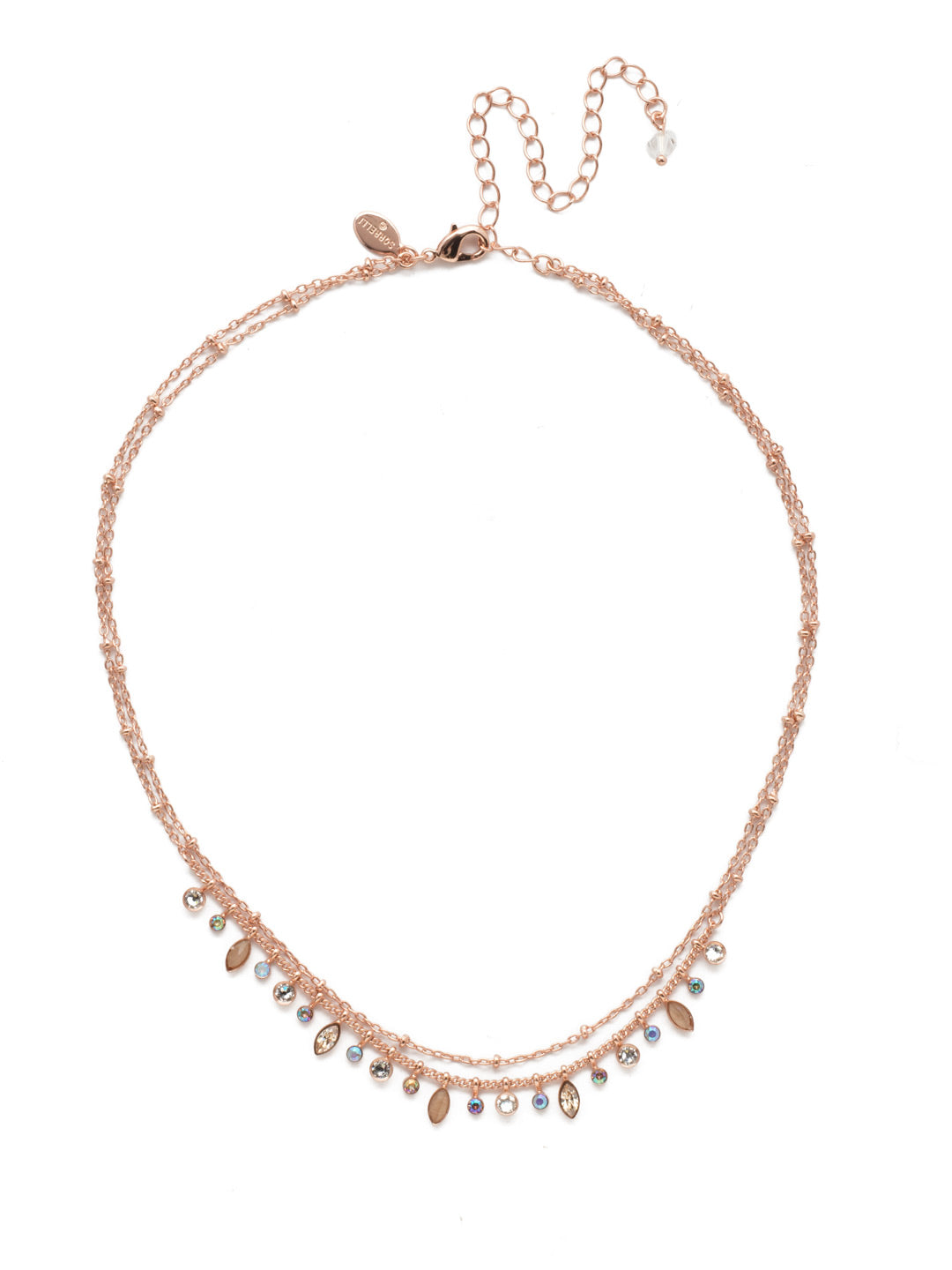 Rina Delicate Layered Necklace - NDY10RGROG
