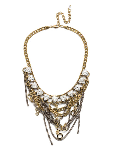 Smythe Statement Bib Necklace - NEB10MXCRY