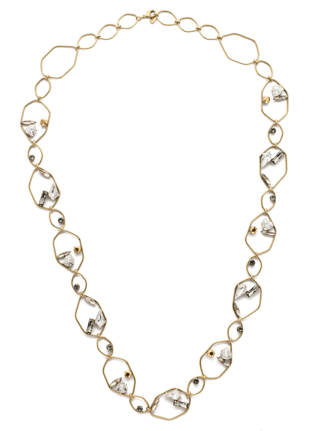 Presley Exaggerated Long Strand Necklace - NEB12AGCRY