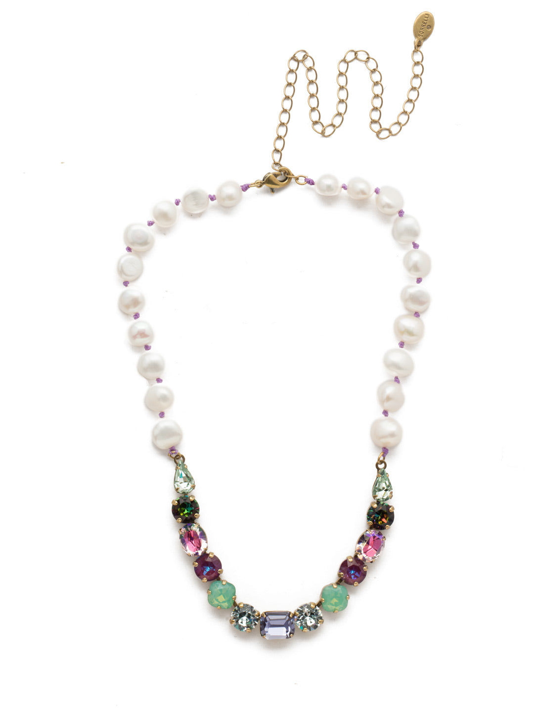 Cadenza Tennis Necklace - NEC14AGIRB