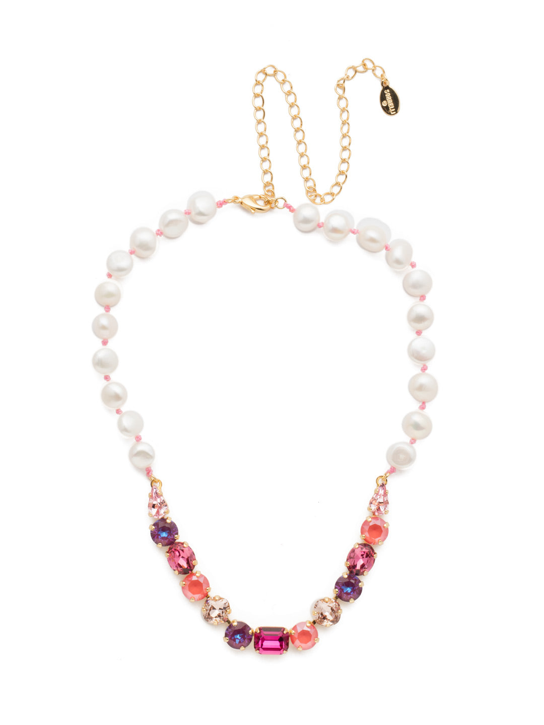 Cadenza Tennis Necklace - NEC14BGBGA