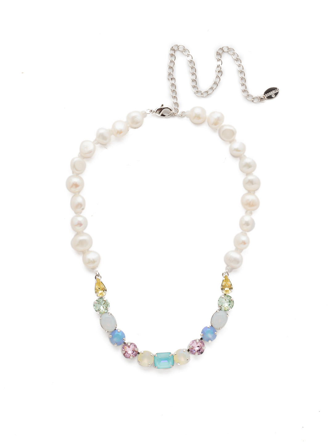 Cadenza Tennis Necklace - NEC14RHSSU