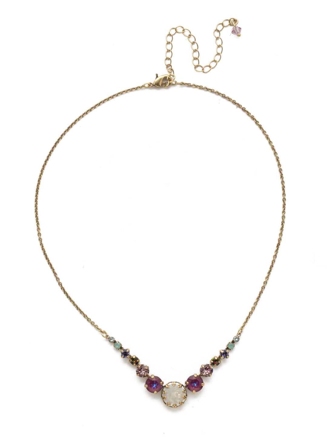 Meera Tennis Necklace - NEF43AGIRB