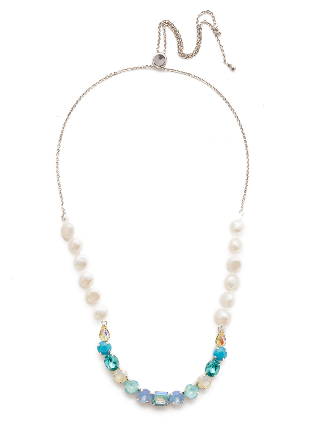 Cadenza Tennis Necklace - NEH26RHTHT