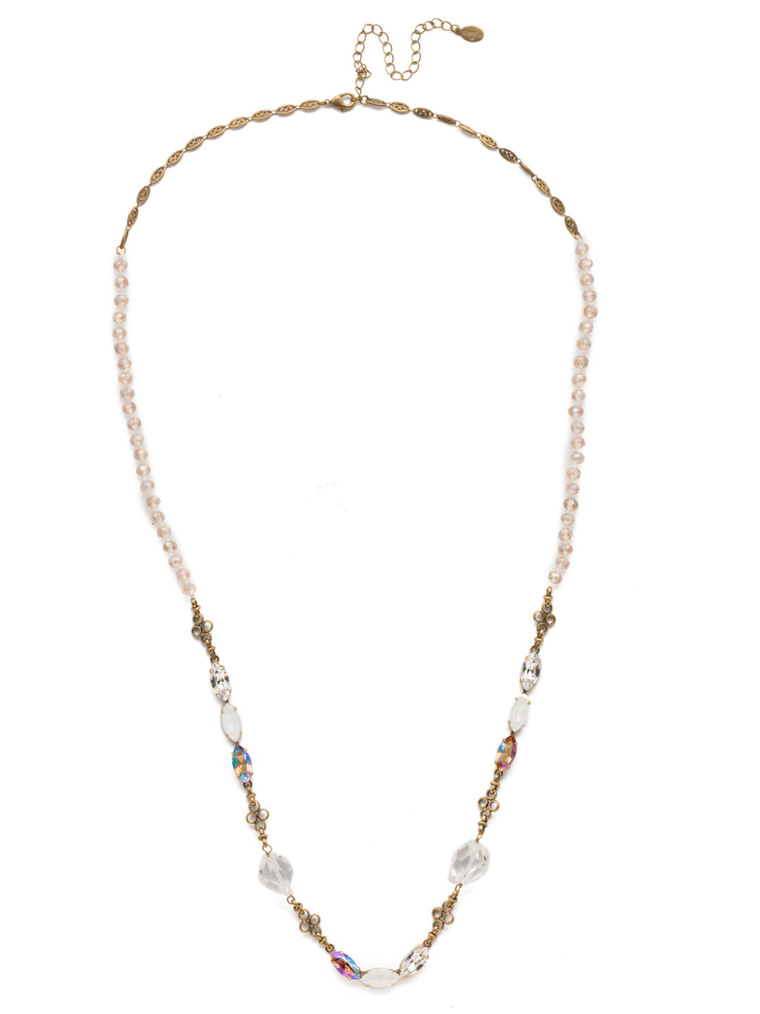 Vitrine Long Necklace - NEK13AGROB
