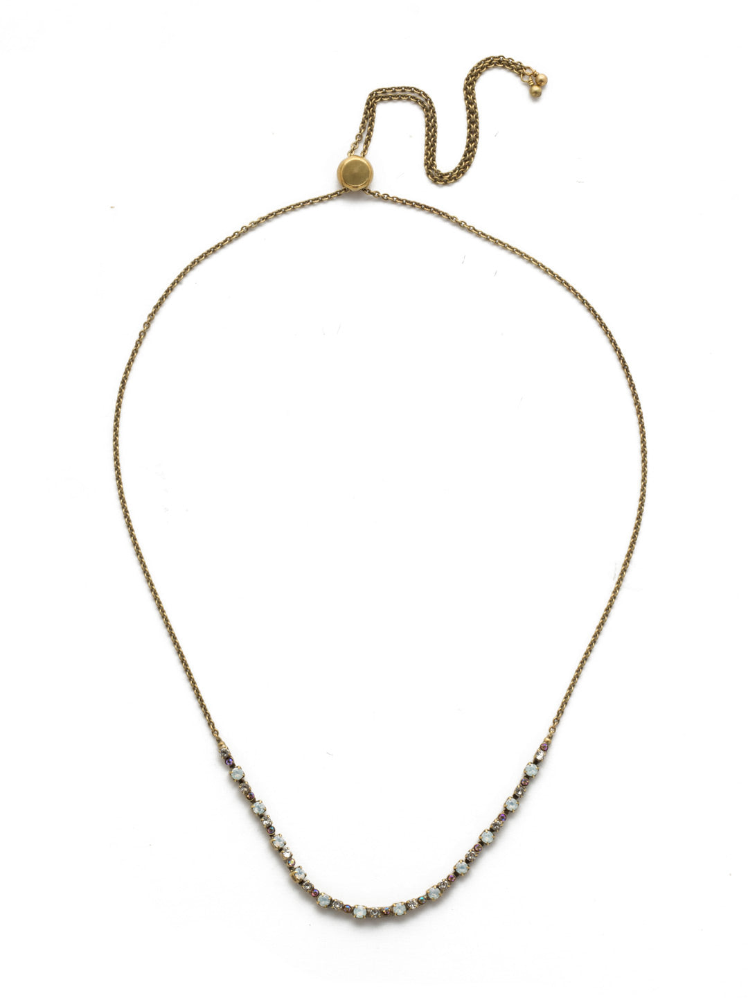 Glimmer Tennis Necklace - NEK14AGROB