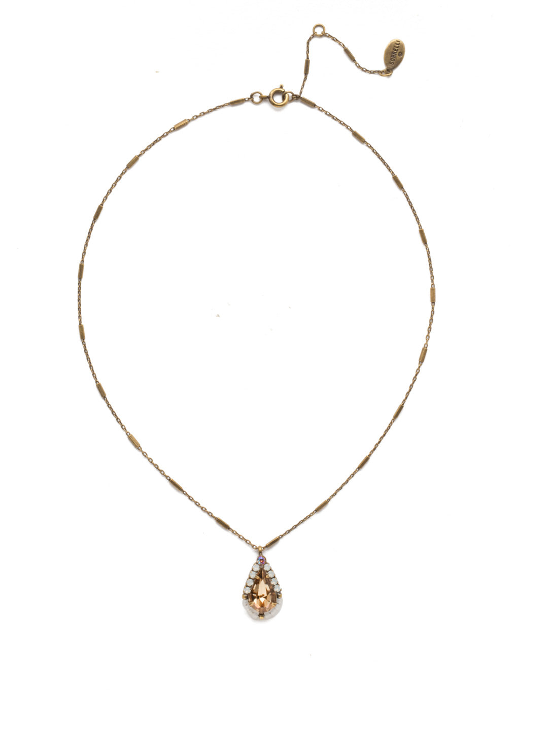 Delicate Drop Pendant Necklace - NEK15AGROB