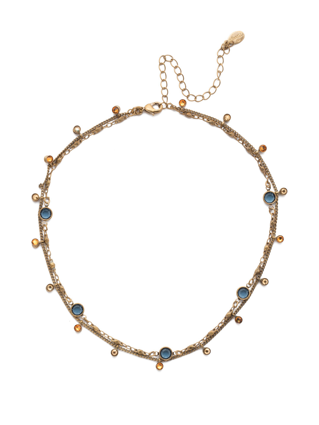 Dewdrop Layered Necklace - NEK36AGLNA