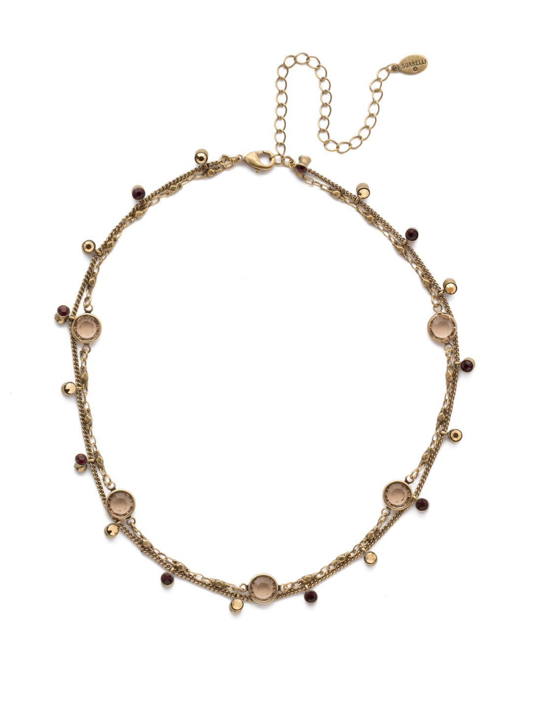Dewdrop Layered Necklace - NEK36AGMMA