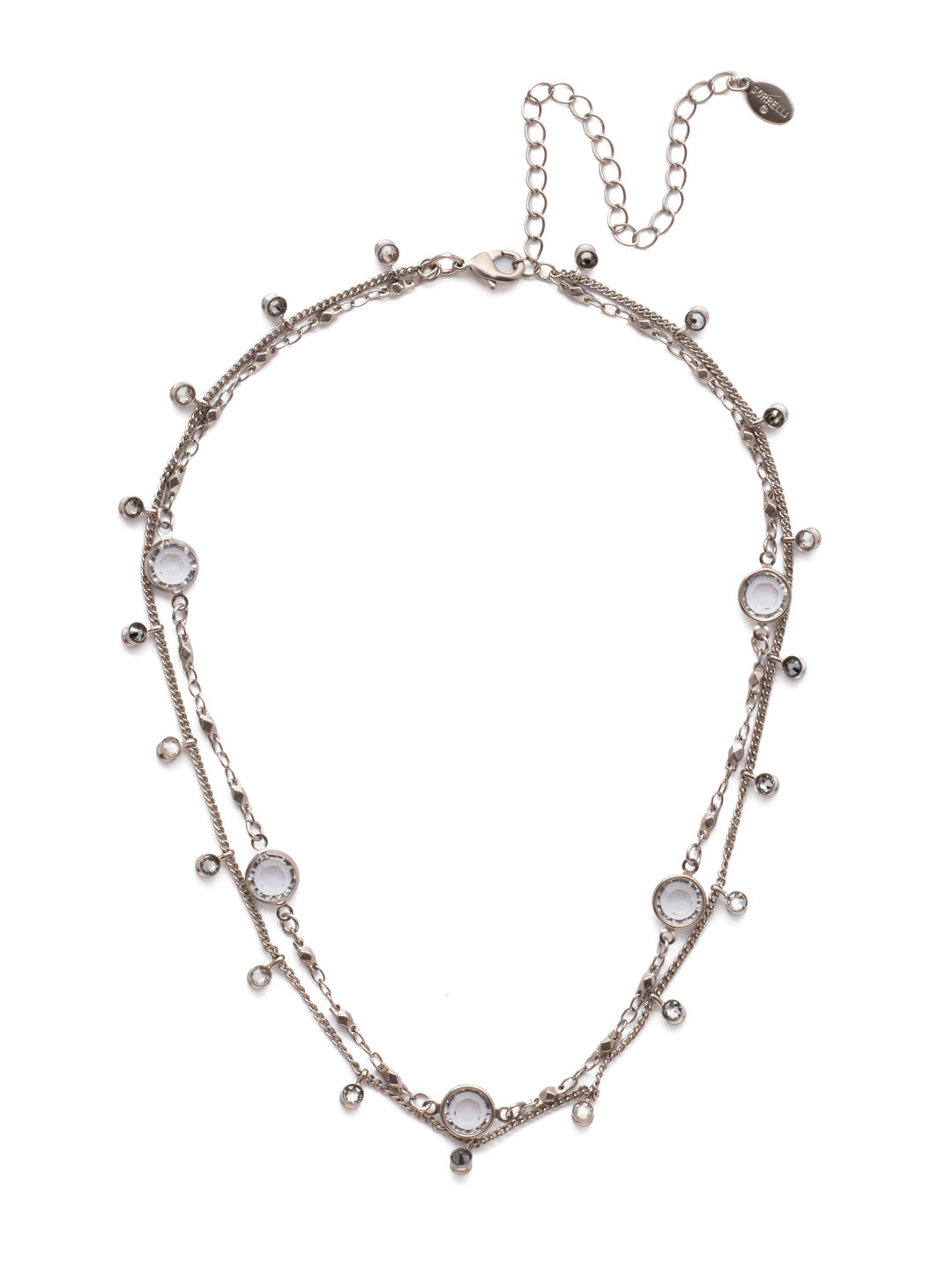 Dewdrop Layered Necklace - NEK36ASCRO