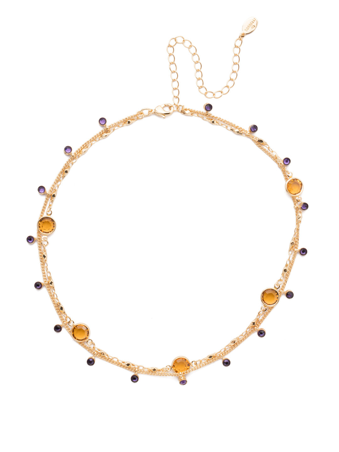 Dewdrop Layered Necklace - NEK36BGLPU