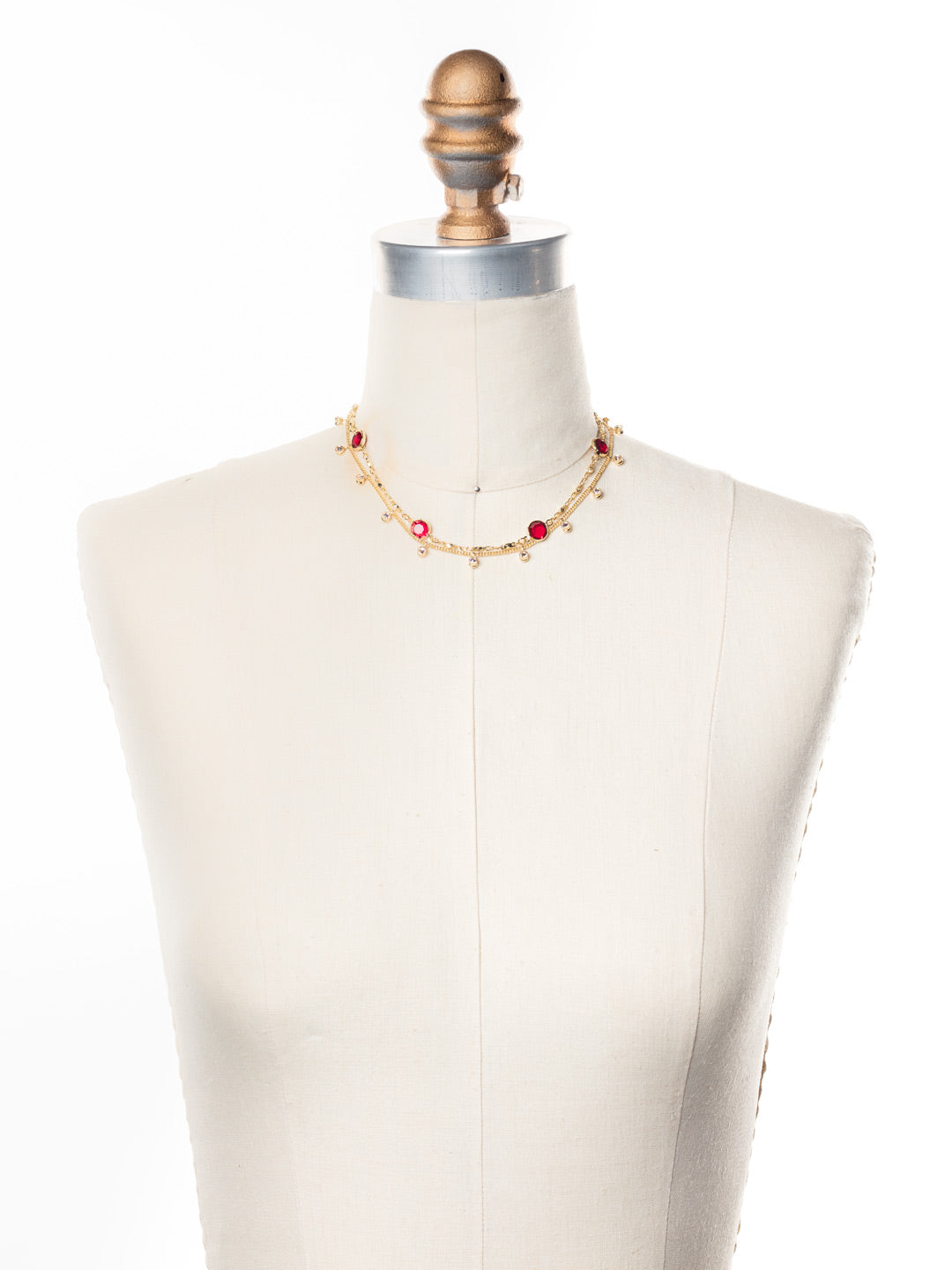 Dewdrop Layered Necklace - NEK36BGSRC