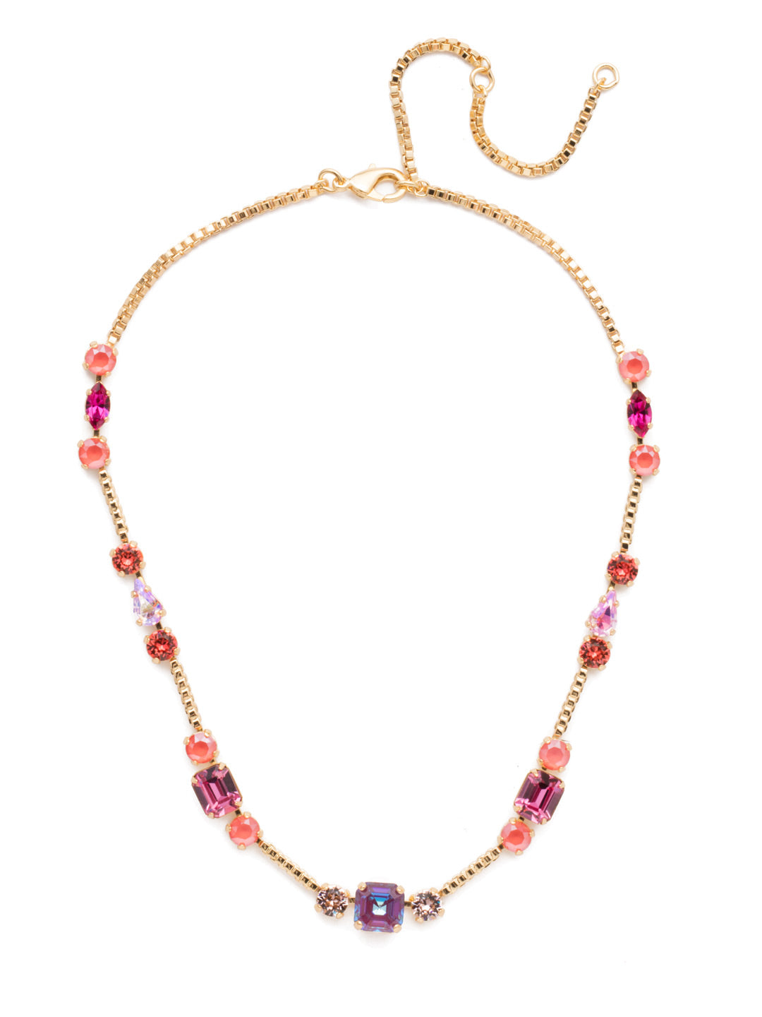 Poppy Tennis Necklace - NEN18BGBGA