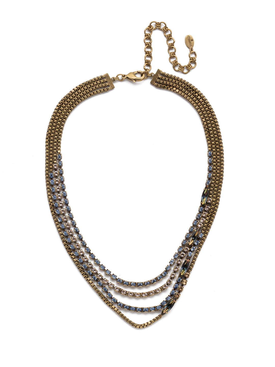 January Layered Necklace - NEP12AGSDE