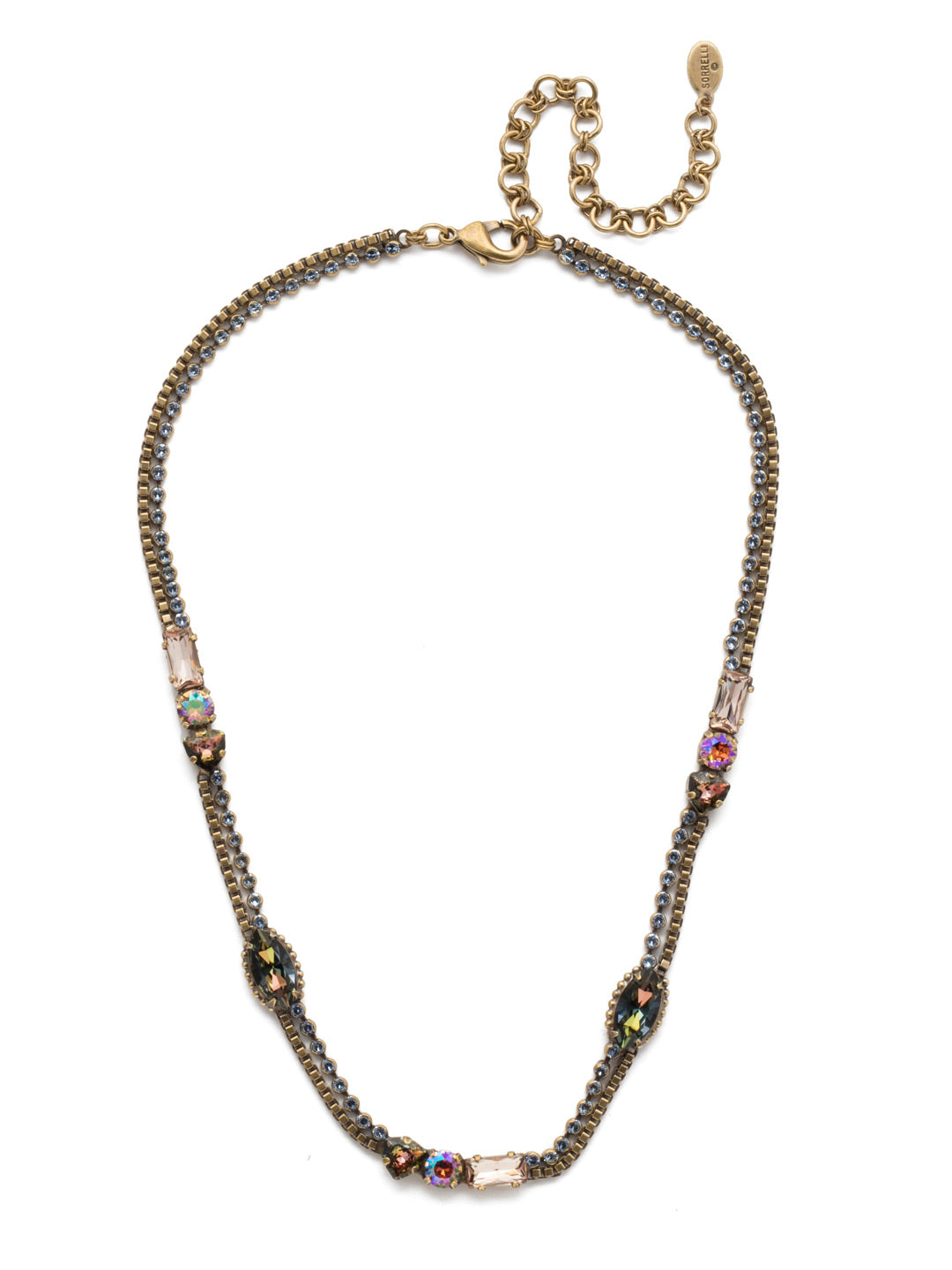 Claretta Tennis Necklace - NEP14AGSDE
