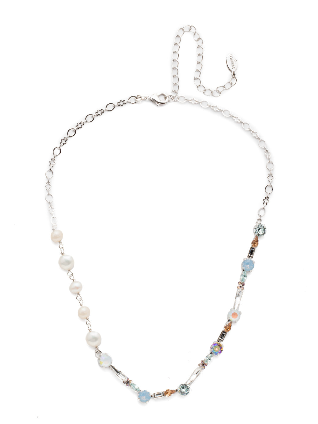 Oleana Tennis Necklace - NES18RHNTB