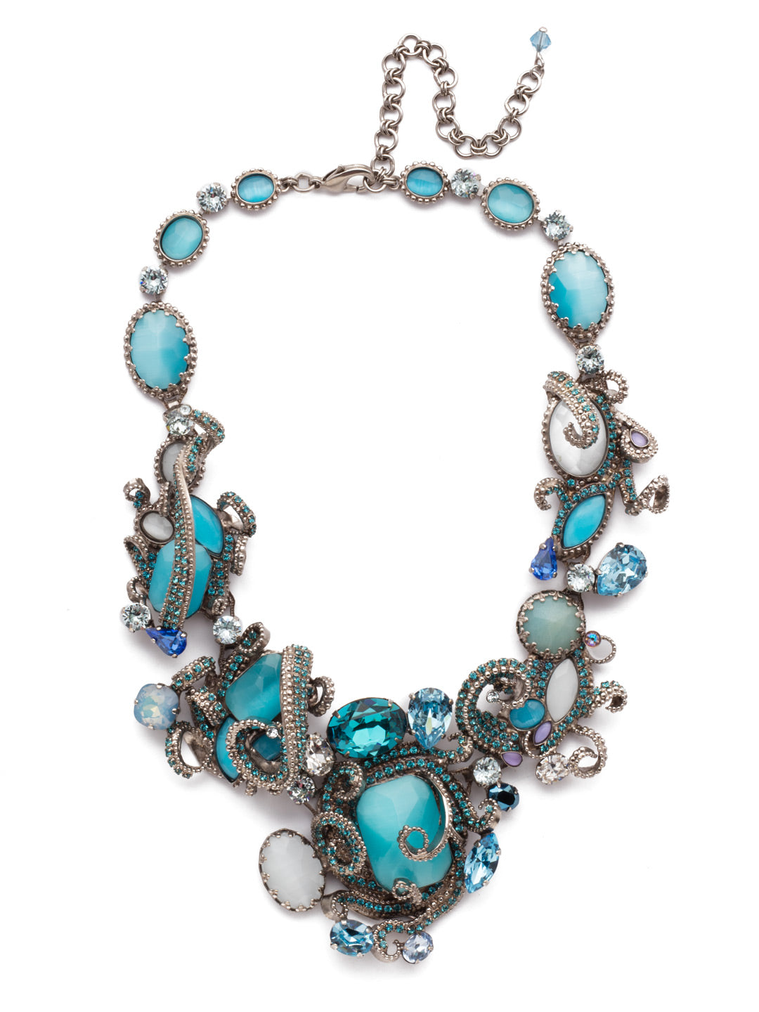 Aquatic Azure Statement Necklace - NSP3ASAQU