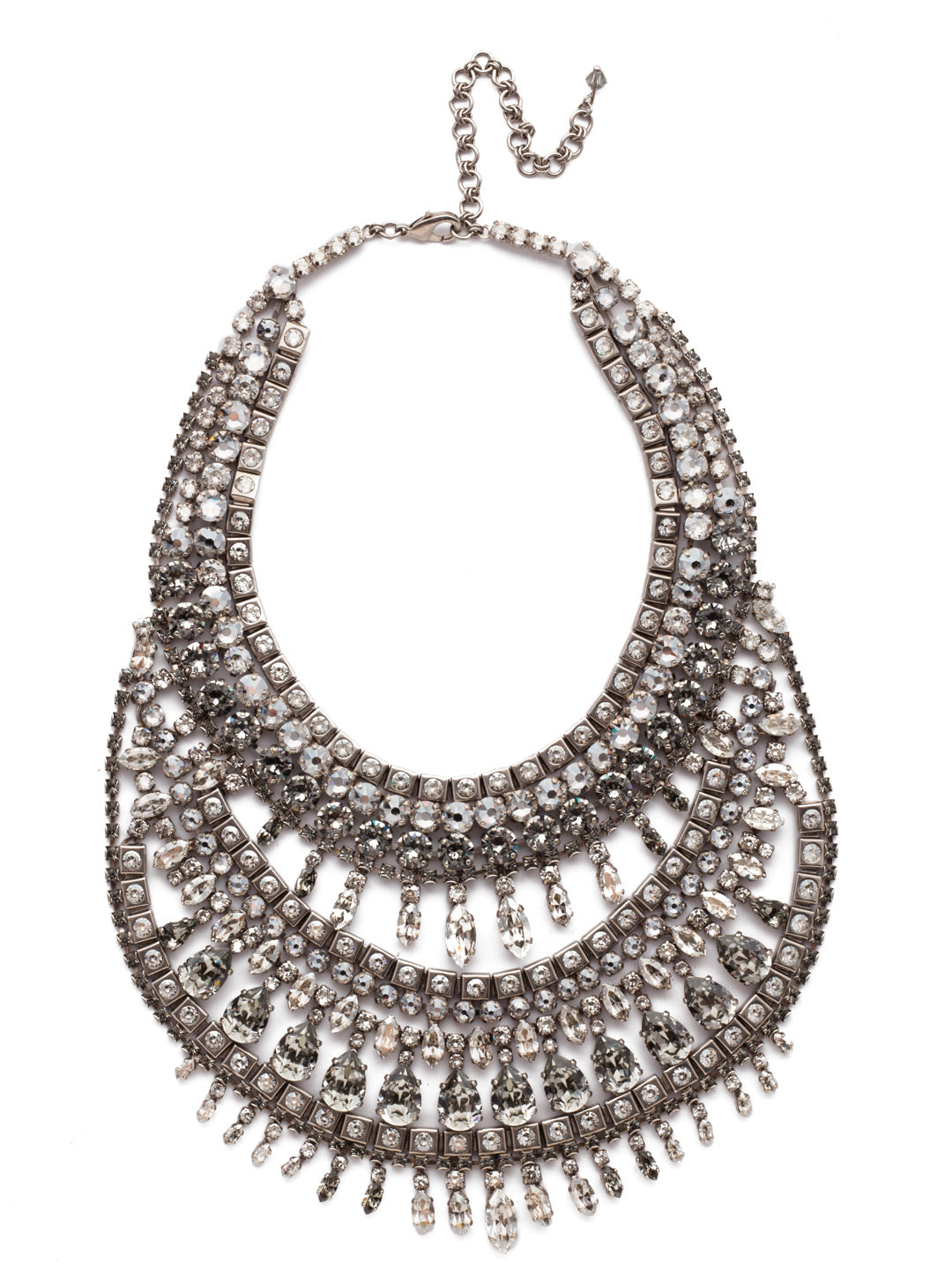 Silver Shade Statement Necklace - NSP6ASSSH