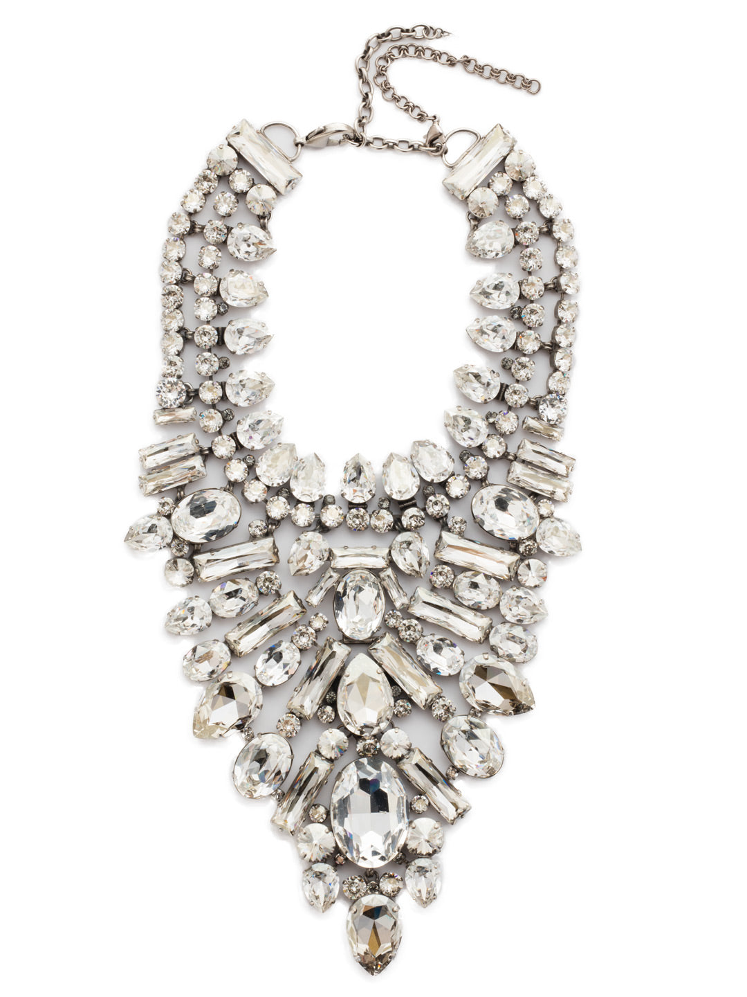 Crystal Cluster Statement Necklace - NSP80ASSSH
