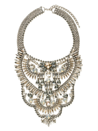 Crystal Collage Statement Necklace - NSP81ASGNS