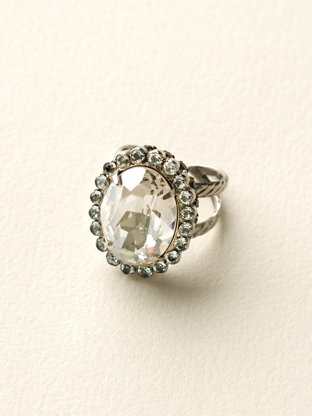Glamorous Oval-Cut Cocktail Ring - RBT68ASCRO