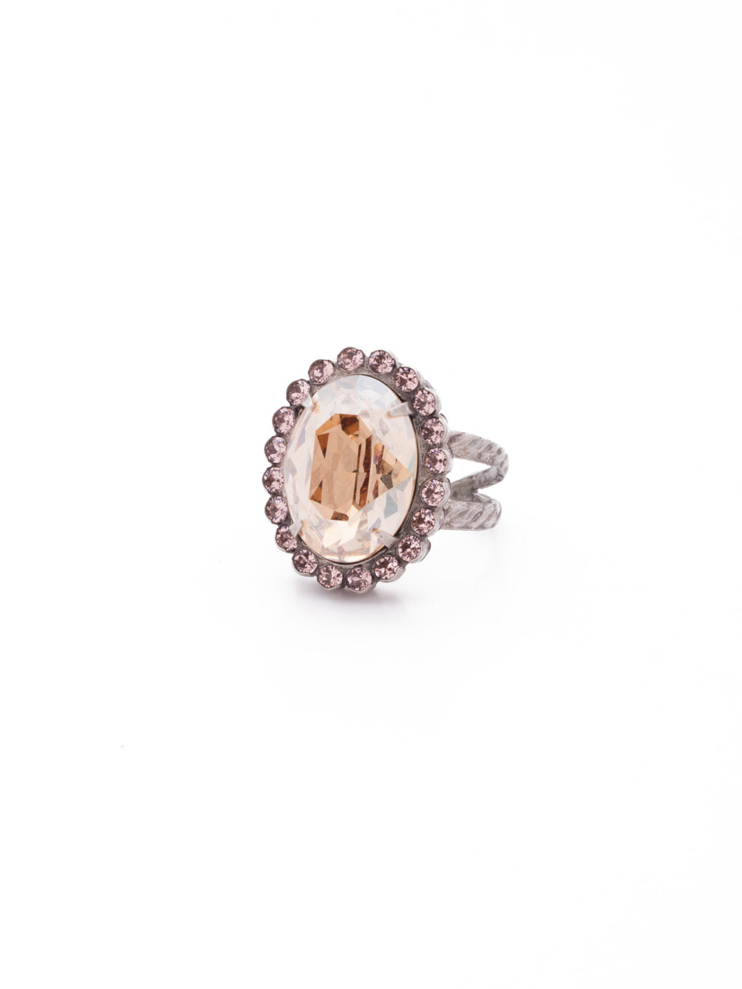 Glamorous Oval-Cut Cocktail Ring - RBT68ASSBL