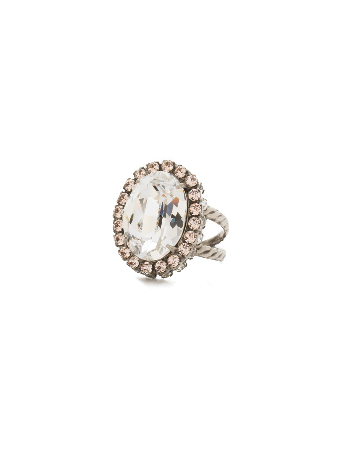 Glamorous Oval-Cut Cocktail Ring - RBT68ASSNB