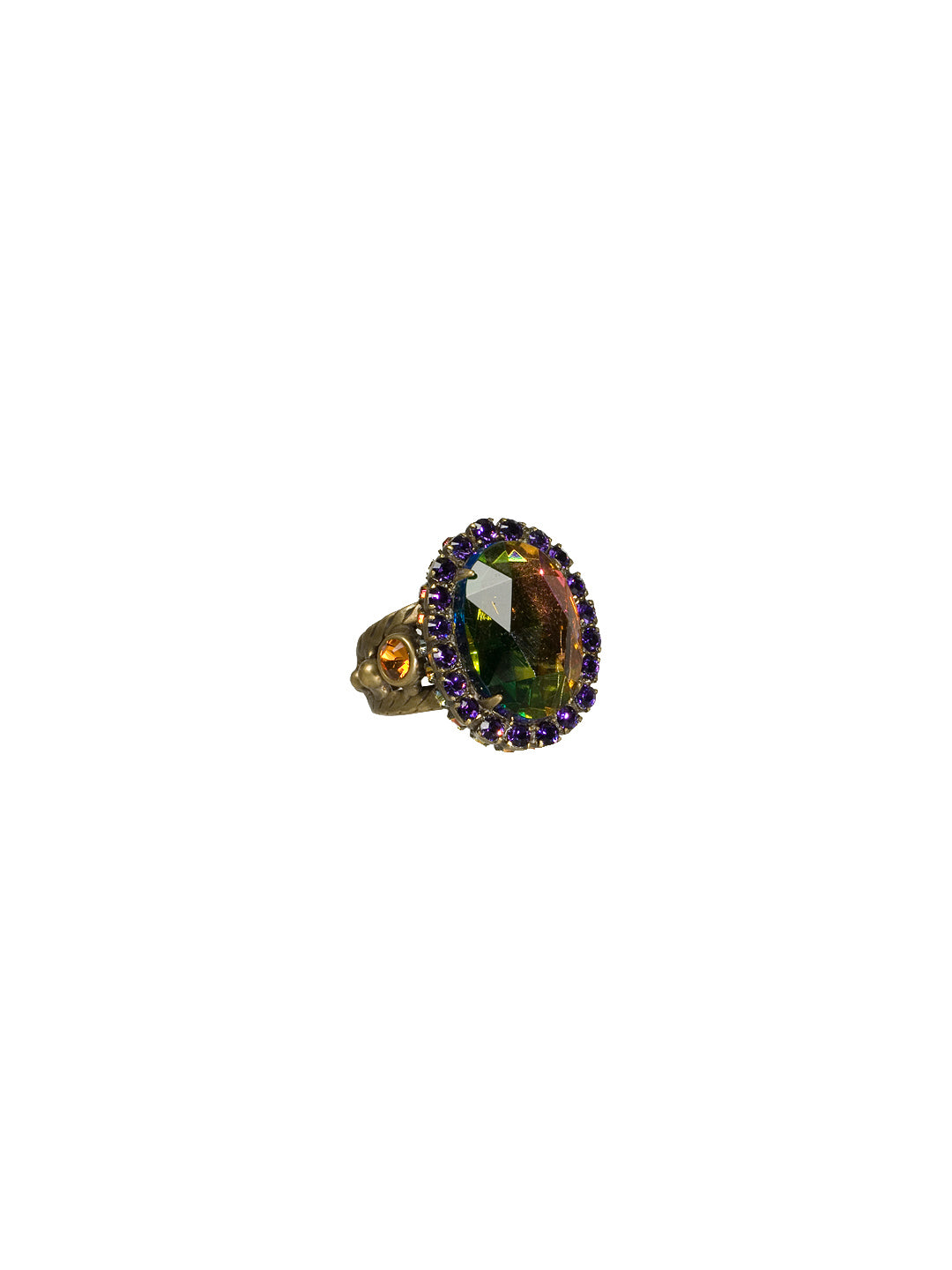 Oval Crystal Cocktail Ring - RBT77AGVO
