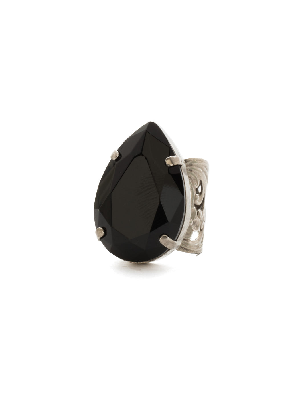Teardrop Crystal Ring - RCM25ASBON