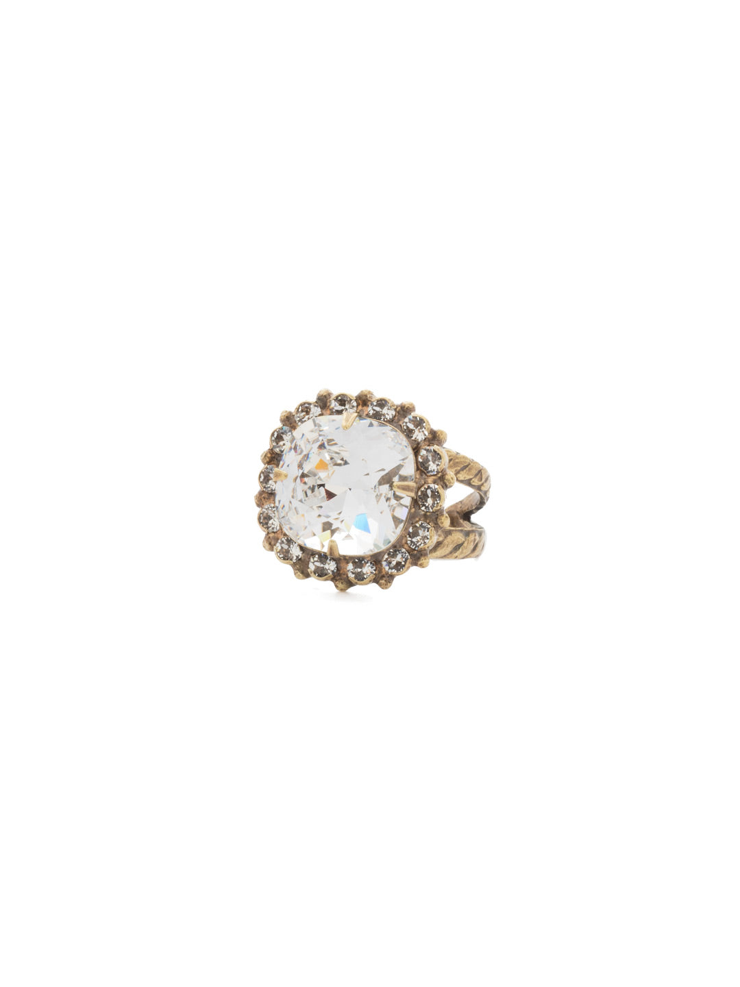 Cushion-Cut Cocktail Ring - RCR112AGCRY